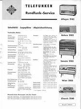Telefunken Service Manual für Allegro -Sonata- Wien 2183- Bolero 2182 2180