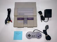 Super Nintendo SNES System (SNS-001) Console, OEM Controller Tested and Clean #1