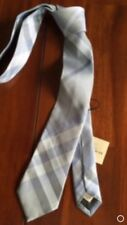 BURBERRY LONDON T BRIGHT LUPIN BLUE SILK TIE