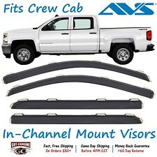 194536 AVS In-Channel Vent Visor Rain Guards for Silverado / Sierra Crew Cab