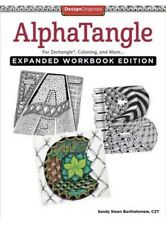 New ALPHATANGLE for Zentangle Coloring & More EXPANDED WORKBOOK EDITION Design