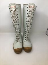Rare Hunter Limited Edition Watling Lace Up Rubber Boots US 7 K5