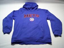 Majestic Long Sleeve NY Mets Baseball Team Hoodie Youth Size L