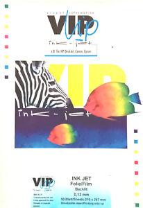 VIPup visual information, HP DeskJet, Canon, Epson, INK JET FOLIE/FILM, BACKLIT