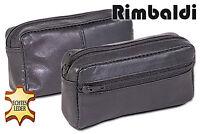 Rimbaldi® Große Leder Schlüsseltasche mit Extrafach in Schwarz