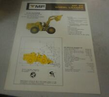 Vintage Mf 55 Wheel Loader 2 1/2 Cubic Yard Specifications
