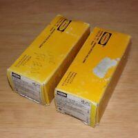 x2 Hubbell 125V 15A NEMA L5-15R Brown Twist-Lock Duplex Receptacles HBL4700