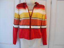Shu Shu Front Zip Hooded Cardi + Long Sleeve Multi Colour Striped Jumper - UK6-8