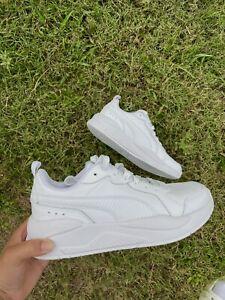 size 8 (men)- puma xray all white