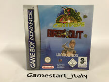 CENTIPEDE + BREAKOUT + WARLORDS - NINTENDO GAME BOY ADVANCE GBA - NUOVO NEW PAL