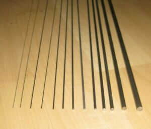 Spring Piano Wire, straight rods. From 0.3mm to 5.0mm diameter, 330mm long.
