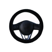 Black Winter Warm Plush Cover Trim Car Auto Steering Wheel Cover Universal Soft