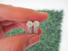 1.18 Carat Face Illusion Diamond White Gold Clip Earrings 14k sepvergara