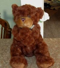 "14"" Brown Plush Teddy Bear Called Tyler By First & Main with Tags 2012"