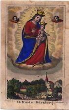 Dürrnberg Wallfahrt Andachtsbild Heiligenbild 5400 Österreich Koloriert (O-6979