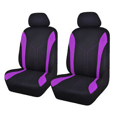 Universal Front Car Seat Covers Black Purple Washable Auto Protector For Ladies