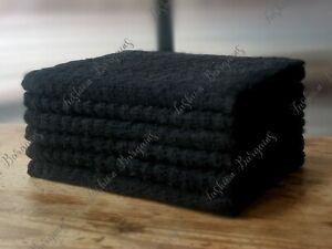 Black 100% Egyptian Cotton Jumbo Terry Kitchen Tea Towels Dish Cloth BBQ Pub BnB