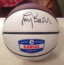 Kansas Jayhawks LARRY BROWN Signed Logo Basketball Ball