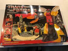 Transformers Original G1 1985 Omega Supreme Complete w/ Box unused sticker sheet