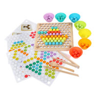 Montessori Toys Wooden Ball Clip Board Game Children Early Educational Toys