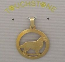 Bernese Mountain Dog Jewelry Gold Pendant by Touchstone Dog Designs