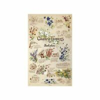 Country Flowers of Yorkshire Tea Towel 100% Cotton Stow Green Kitchen 74 x 46cm