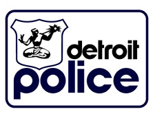 XXL Vintage Style Detroit Police Hip Hop Iron On HTV T Shirt Transfer 30cm DJ