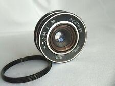 Industar-69 USSR lens 2.8/28 mm M39 + adapter ring M42