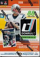 2018 Donruss Football NFL Trading Cards New 88ct. Retail Blaster Box = Mem Card