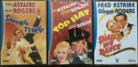 SWING TIME + SHALL WE DANCE + TOP HAT .. FRED ASTAIRE & GINGER ROGERS  LOT 3 DVD