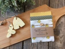 Natural Beeswax Wraps Set Of 3 Allergy Free Eco Sandwich/Cheese Wax Wraps