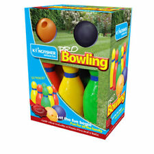 Kingfisher 6 Pcs Skittles Bowling Set Toy Outdoor Game With 2 Balls