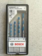 Kit 4 Brocas RobustLine Bosch Multi Construcción de 4-5-6 y 8 mm Hecho Alemania