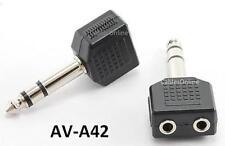 "1/4"" Stereo Plug to Dual 3.5mm Stereo Jack Splittler"