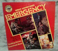 Vntg Emergency Great Adventure Stories 1975 Photo Sleeve Lp Record Tv Series