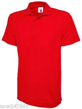 Mens Premium Plain Polo Shirt Pique Size XS to 4XL NEW UK STOCK