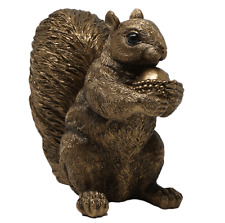More details for realistic squirrel ornament figure bronze statue resin sculpture home decor gift