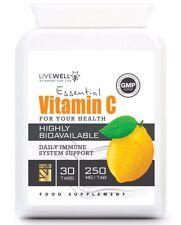 Vitamin C - HIGH STRENGTH Vegan Tablets   Immune System Support   UK capsules