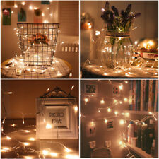 40 LED Warm White String Fairy Lights Battery Party Wedding Xmas Twinkle Static
