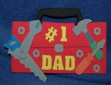 Father's Day Toolbox, Foam Refrigerator Magnet, Made in the USA