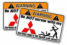 Mitsubishi Warning Decal Sticker Galant Eclipse Sypder