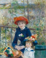 Two Sisters on the Terrace by Pierre Renoir 100% Cotton Canvas Print NEW Picture