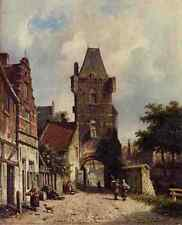 Eversen Adrianus In The Village A4 Print