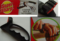 NEW 2 In 1 Knife Blade & Scissor Sharpener With Safe Guard Hand Protector Tool
