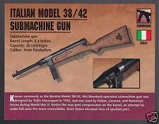 ITALIAN MODEL 38/42 SUBMACHINE GUN Italy Beretta Classic Firearm PHOTO CARD