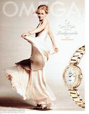 PUBLICITE ADVERTISING 086  2012  la montre Ladymatic Omega & Nicole Kidman