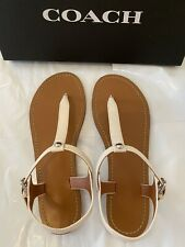 coach Women's Leather sandals size 8 new Ivory