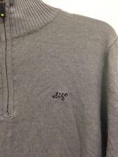 NWT SLIGO Golf Mock Turtleneck Partial Zip Front Sweater Gray Mens Size XS