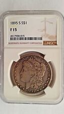 1895 s Morgan Silver Dollar NGC F 15 Very Rare Date