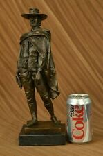 100% solid Bronze Clint Eastwood Outlaw Western Sculpture Figurine Gift Decor